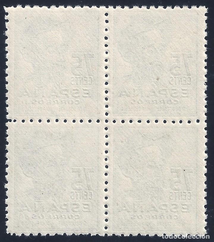 Sellos: EDIFIL 1013 CENTENARIO DEL NACIMIENTO DE CERVANTES 1947 (VARIEDAD...1013T Y 1013M). LUJO. MNH ** - Foto 2 - 171741693
