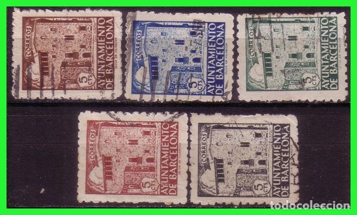 BARCELONA 1943 CASA PADELLAS, EDIFILNº 42 A 46 (O) (Sellos - España - Estado Español - De 1.936 a 1.949 - Nuevos)