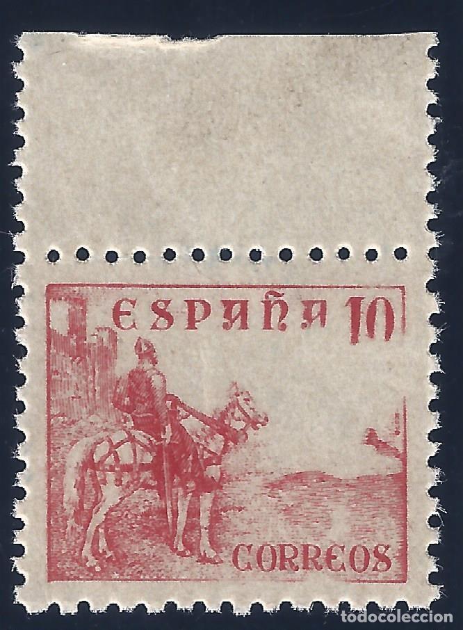 EDIFIL 917 CIFRAS Y EL CID 1940 (VARIEDADES...FALTA CMS Y ROTURA MARCOS LATERALES). LUJO. MNH ** (Sellos - España - Estado Español - De 1.936 a 1.949 - Nuevos)
