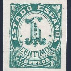 Sellos: EDIFIL 914 CIFRAS Y EL CID 1940 (VARIEDAD...FALTA IMPRESIÓN EN EL 1). LUJO. MNH **. Lote 171837819