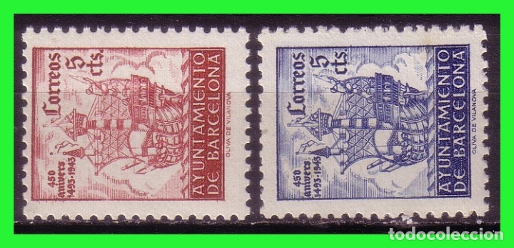 BARCELONA 1943 IV ANIVº DE LA LIBERACIÓN, EDIFILNº SH47 Y SH48 * (Sellos - España - Estado Español - De 1.936 a 1.949 - Nuevos)
