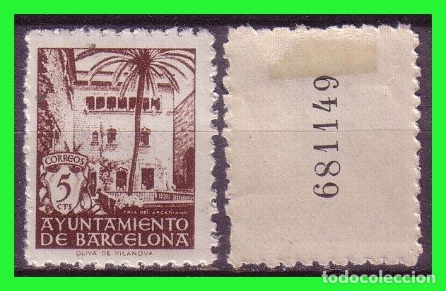 BARCELONA 1945 CASA DEL ARCEDIANO, EDIFILNº 66NA * VARIEDAD (Sellos - España - Estado Español - De 1.936 a 1.949 - Nuevos)