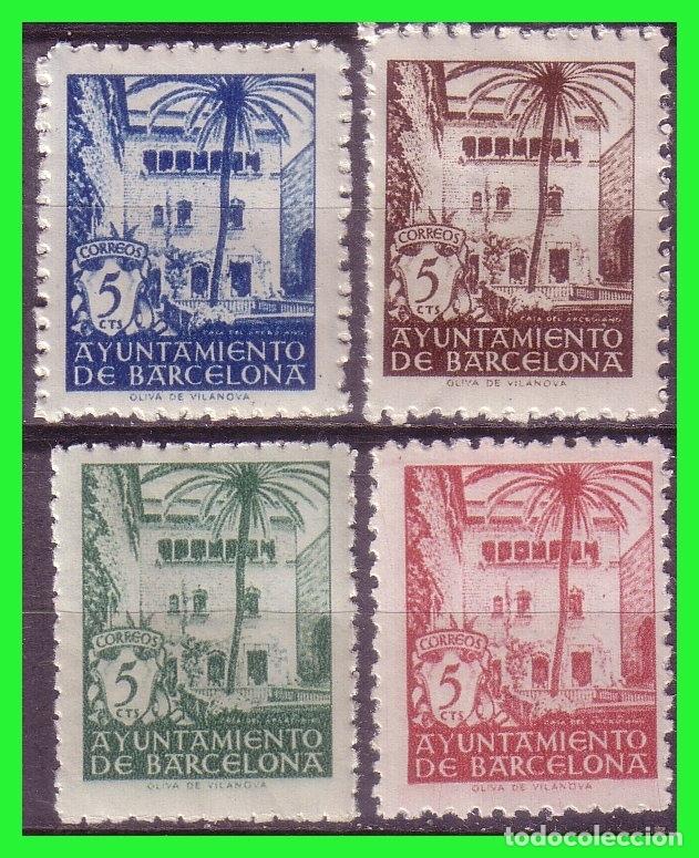 BARCELONA 1945 CASA DEL ARCEDIANO, EDIFILNº 65 A 68 * * (Sellos - España - Estado Español - De 1.936 a 1.949 - Nuevos)