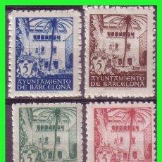 Sellos: BARCELONA 1945 CASA DEL ARCEDIANO, EDIFILNº 65 A 68 * *. Lote 171838752