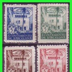 Sellos: BARCELONA 1945 CASA DEL ARCEDIANO, EDIFILNº 65 A 68 * . Lote 171838778