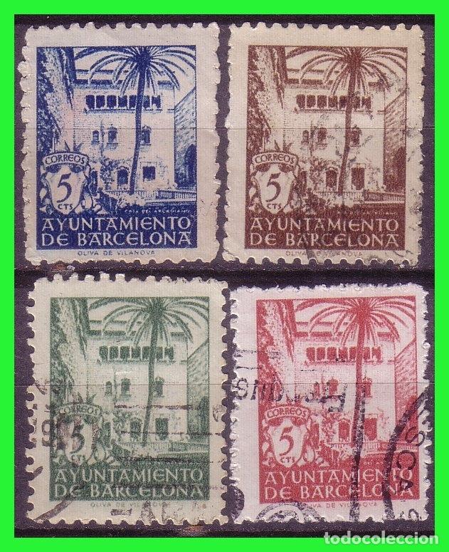 BARCELONA 1945 CASA DEL ARCEDIANO, EDIFILNº 65 A 68 (O) (Sellos - España - Estado Español - De 1.936 a 1.949 - Nuevos)