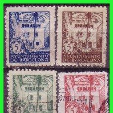 Sellos: BARCELONA 1945 CASA DEL ARCEDIANO, EDIFILNº 65 A 68 (O). Lote 171838792