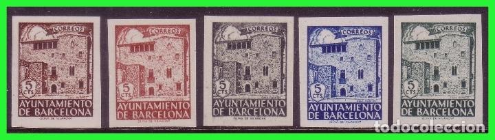 BARCELONA, 1942 CASA PADELLAS, EDIFIL Nº 42S A 46S (*) COMPLETA (Sellos - España - Estado Español - De 1.936 a 1.949 - Nuevos)