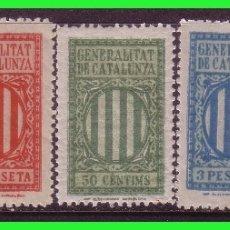 Sellos: BARCELONA, FISCALES, GENERALITAT DE CATALUNYA, 5 VALORES DIFERENTES * * VER. Lote 172210665