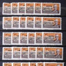 Sellos: HUÉRFANOS TELÉGRAFOS, VIÑETAS, 10 CTS., CEUTA, TREINTA Y CUATRO VIÑETAS, NUEVAS, SIN CH. AÑO 1945.. Lote 172613477