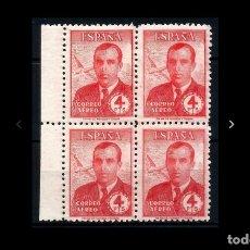 Sellos: ESPAÑA - 1945 - EDIFIL 991 - MNH** - NUEVOS - BLOQUE DE 4 - BORDE DE HOJA - LUJO - RARO Y ESCASO.. Lote 172694244