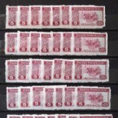 Sellos: HUÉRFANOS CORREOS, VIÑETAS, 5 CTS., CUARENTA Y DOS VIÑETAS NUEVAS, SIN CH.. Lote 172756850