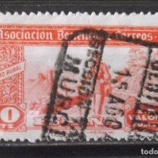 Sellos: HUÉRFANOS CORREOS, VIÑETAS, 10 CTS., USADA.. Lote 172757379