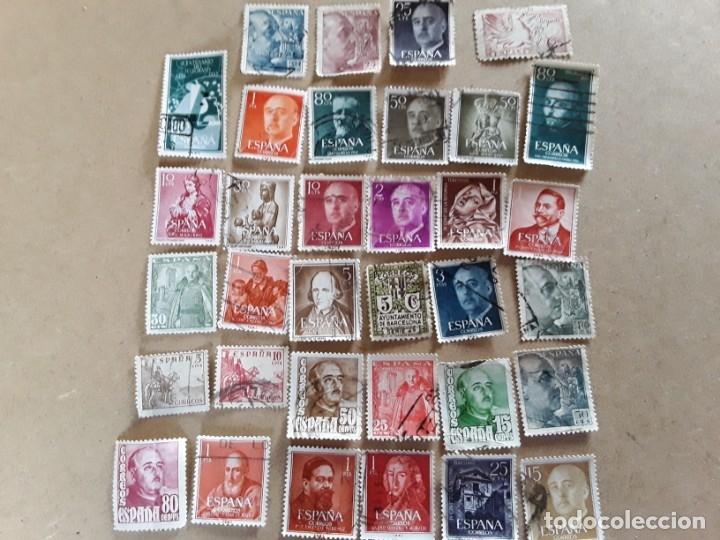 34 SELLOS DE FRANCO DE LOS AÑOS 40 A60,USADOS (Sellos - España - Estado Español - De 1.936 a 1.949 - Usados)