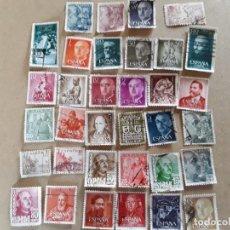 Sellos: 34 SELLOS DE FRANCO DE LOS AÑOS 40 A60,USADOS . Lote 172786902