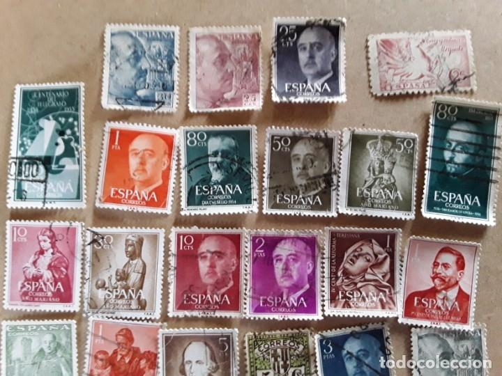 Sellos: 34 sellos de Franco de los años 40 a60,usados - Foto 2 - 172786902