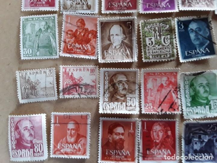 Sellos: 34 sellos de Franco de los años 40 a60,usados - Foto 3 - 172786902