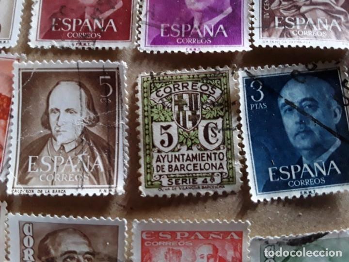 Sellos: 34 sellos de Franco de los años 40 a60,usados - Foto 4 - 172786902