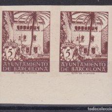 Sellos: CC10- AYUNTAMIENTO BARCELONA EDIFIL 66S. PAREJA SIN DENTA (*) SIN GOMA . Lote 172854758