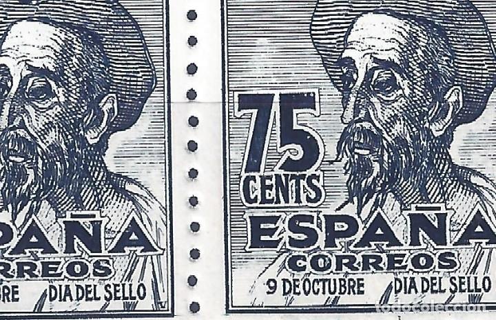 Sellos: EDIFIL 1013 CENTENARIO DEL NACIMIENTO DE CERVANTES 1947 (VARIEDAD...1013T Y 1013M). LUJO. MNH ** - Foto 3 - 173231663