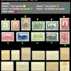 Sellos: SERIE INCOMPLETA - EDIFIL 802/813 - JUNTA DE DEFENSA NACIONAL - 1936/1937 - REF699. Lote 173515994