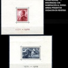 Sellos: DOS HOJITAS - EDIFIL SH 862/863 - BATALLA DE LEPANTO - 1938 - REF700. Lote 173516407