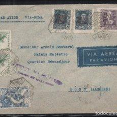 Sellos: ESPAÑA=CARTA MALLORCA A ARGELIA_CENSURA MILITAR EN VIOLETA_ VER 2 FOTOS. Lote 173575512