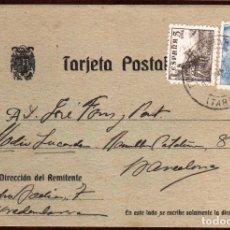 Sellos: GIROEXLIBRIS. TARJETA CIRCULADA DESDE TORREDEMBARRA (TARRAGONA) A BARCELONA. Lote 173841162