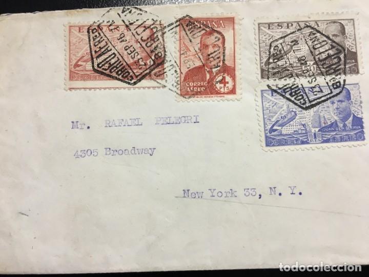 CARTA DE BARCELONA A NUEVA YORK AÑO 1946 (Sellos - España - Estado Español - De 1.936 a 1.949 - Cartas)