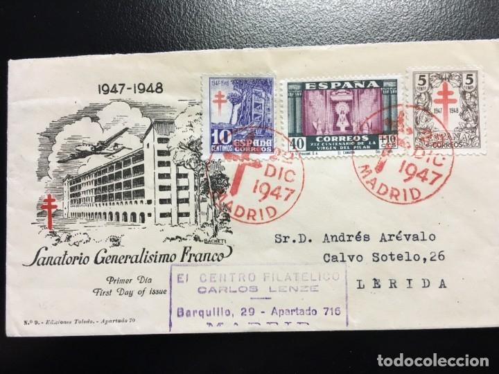 CARTA CIRCULADA DE MADRID A LÉRIDA AÑO 1947 (Sellos - España - Estado Español - De 1.936 a 1.949 - Cartas)