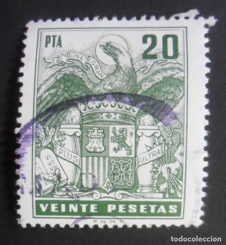ESPAÑA TIMBRE - FISCAL - POLIZA - 20 PESETAS (Sellos - España - Estado Español - De 1.936 a 1.949 - Usados)