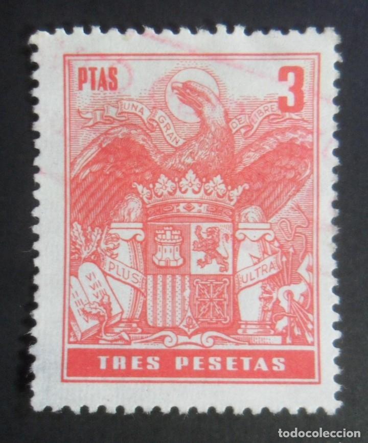 ESPAÑA TIMBRE - FISCAL - POLIZA - 3 PESETAS (Sellos - España - Estado Español - De 1.936 a 1.949 - Usados)