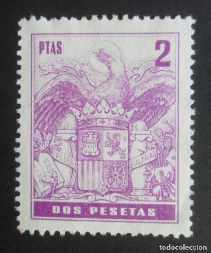ESPAÑA TIMBRE - FISCAL - POLIZA - 2 PESETAS (Sellos - España - Estado Español - De 1.936 a 1.949 - Usados)