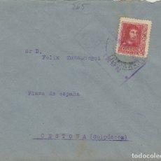 Sellos: GUIPUZCOA - IRUN CENSURA MILITAR - - SOBRE DE CARTA E. ESPAÑOL . Lote 175794030