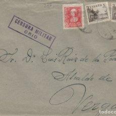 Sellos: GUIPUZCOA -ORIO CENSURA MILITAR - - SOBRE DE CARTA E. ESPAÑOL . Lote 175795613