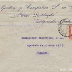 Sellos: MADRID - CIEMPOZUELOS CENSURA MILITAR -RMTE GORDON Y CIA . SOBRE DE CARTA E.ESPAÑOL . Lote 175838157