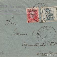 Sellos: MALAGA - CASARES CENSURA MILITAR - SELLO PATRIÓTICOS - SOBRE DE CARTA E.ESPAÑOL . Lote 175855999