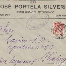 Sellos: MALAGA - GAUCIN CENSURA MILITAR - RMT JOSE PORTELA - SOBRE DE CARTA E.ESPAÑOL . Lote 175856269