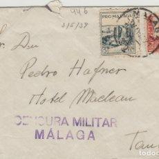 Sellos: MALAGA - CENSURA MILITAR - - SOBRE DE CARTA E.ESPAÑOL . Lote 175856405