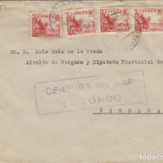 Sellos: NAVARRA - ELIZONDO CENSURA MILITAR - DEST VERGARA . SOBRE DE CARTA E.ESPAÑOL . Lote 175858434