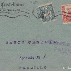 Francobolli: PALENCIA -CENSURA MILITAR - RMT BANCO CASTELLANA . FRONTAL DE CARTA E.ESPAÑOL . Lote 175859798