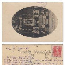 Sellos: PONTEVEDRA - TUY CENSURA MILITAR -TARJETA POSTAL CATEDRAL DE LUGO . Lote 175862229