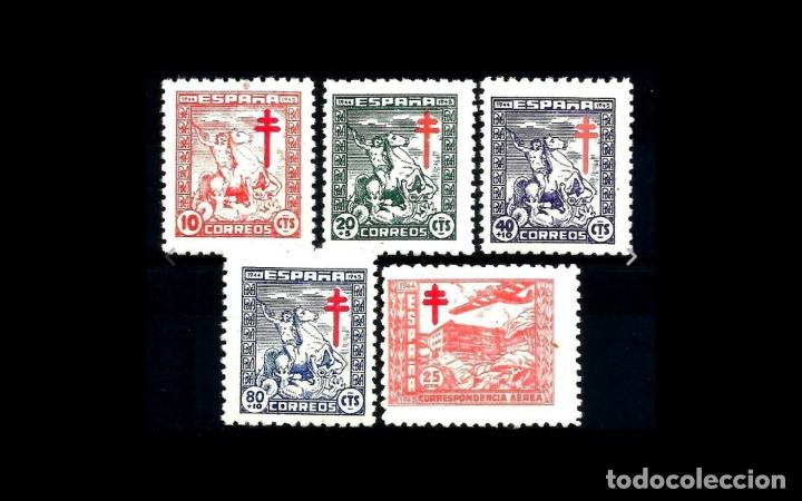 ESPAÑA - 1944 - EDIFIL 984/988 - SERIE COMPLETA - MNH** - NUEVOS - VALOR CATALOGO 40€. (Sellos - España - Estado Español - De 1.936 a 1.949 - Nuevos)