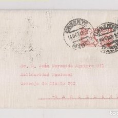 Sellos: SOBRE CONSERVA LA CARTA. MADRID. CORREO URGENTE. 1947. Lote 175958622