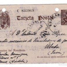 Sellos: ENTERO POSTAL ED Nº 83 CIRCULADO DE BUJALANCE (CORDOBA) A UBEDA (JAÉN). Lote 177207150