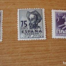 Sellos: ESPAÑA 1947 EDIFIL 1012/14 CENTENARIO NACIMIENTO CERANTES NUEVOS VER FOTOS. Lote 177725242