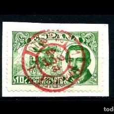 Sellos: ESPAÑA - 1945 - EDIFIL 990 - LUJO - SOBRE FRAGMENTO - MATASELLOS ROJO DIA DEL SELLO - PRIMER DIA. . Lote 177803839