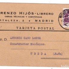 Sellos: TARJETA POSTAL PUBLICITARIA CIRCULADA MADRID A UBEDA JAÉN. Lote 178250170