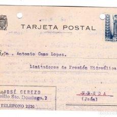 Sellos: TARJETA POSTAL PUBLICITARIA CIRCULADA MALAGA A UBEDA JAÉN. Lote 178250242