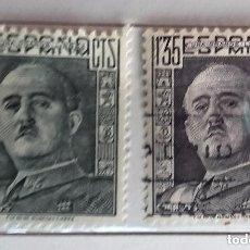 Sellos: ESPAÑA 1943, 2 SELLOS USADOS DE FRANCO. Lote 178311378